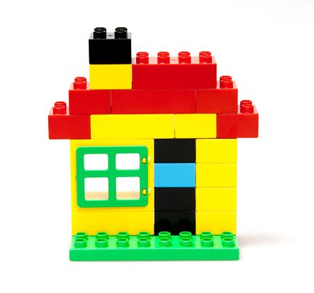 hypothec: toy house isolated on white