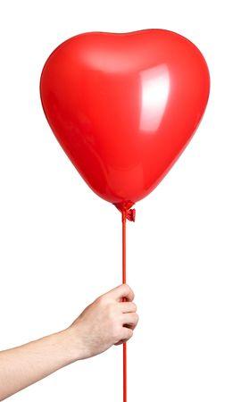 beautiful balloon isolated on white photo