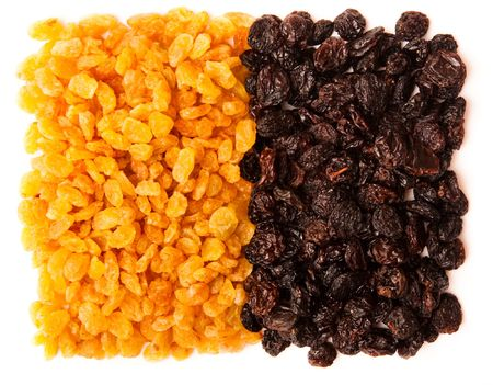 sultana: black and yellow raisins (sultana), dried fruits
