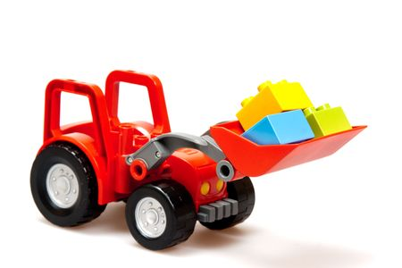 red tractor isolated on white Stock Photo - 6759318
