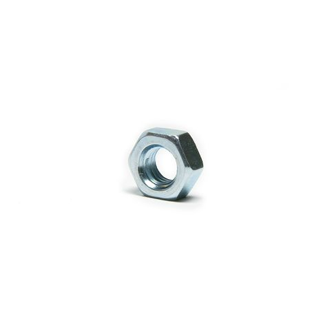 One screw nut, isolated, close up, steel Stock Photo - 6759191