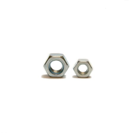 M8 and M6 two screw-nuts isolated, big and small photo