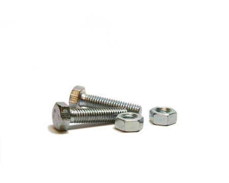Two nead bolt and two screw nut photo