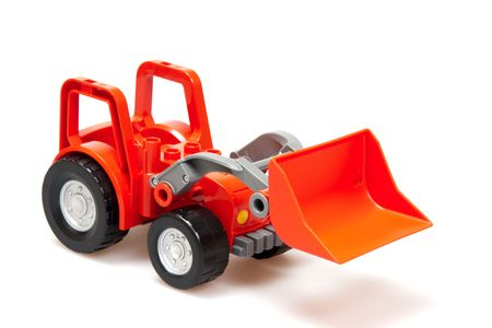 red tractor  isolated on white Stock Photo - 6809659