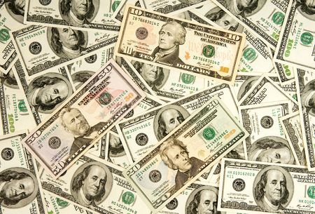 heap of dollars, money background Stock Photo - 6810033