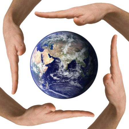 arm hold earth Stock Photo - 6810531