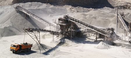 open pit: sand-pit Stock Photo