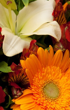 pestil: beautiful bouquet of flowers, background Stock Photo