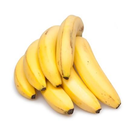 yellow  bananas isolated on white Stock Photo - 6933123