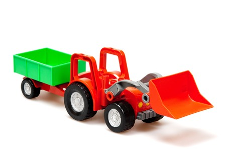red tractor  isolated on white Stock Photo - 7017944
