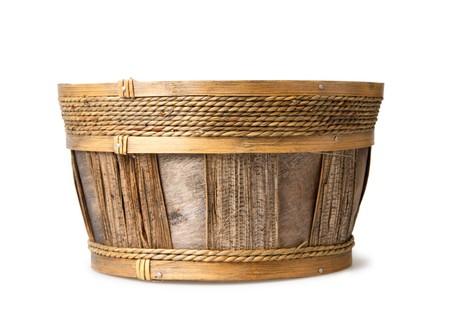 osier: pottle (canister) isolated on white, crib