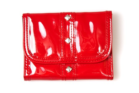 red purse isolated on white Stock Photo - 7018580