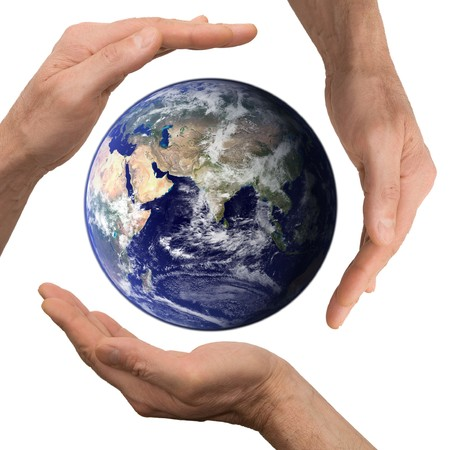 arm hold earth Stock Photo - 7018521