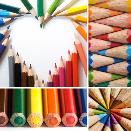 color pencils, collage photo