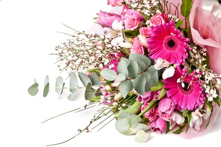 beautiful bouquet of flowers isolated on white Stock Photo - 7240009