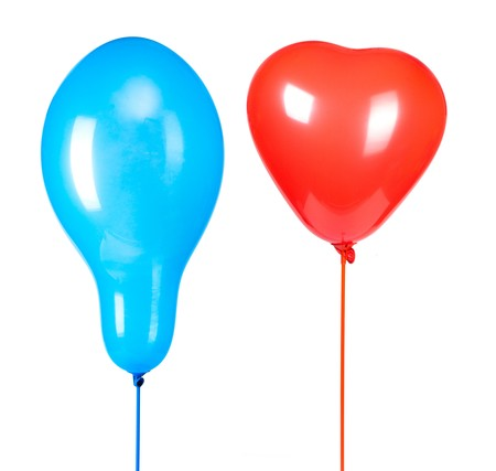 two ballons isoalted on white photo