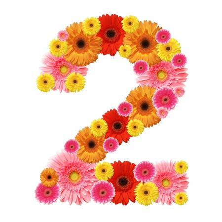 numeric: 2, arabic numeral
