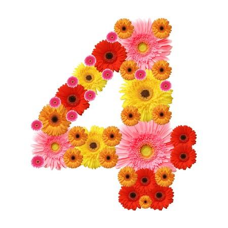 arabic numeral: 4, arabic numeral