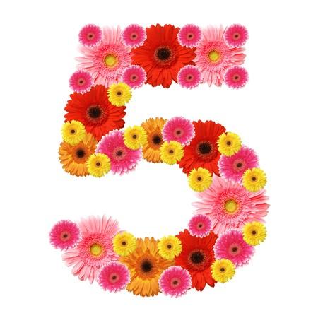 arabic numeral: 5, arabic numeral Stock Photo