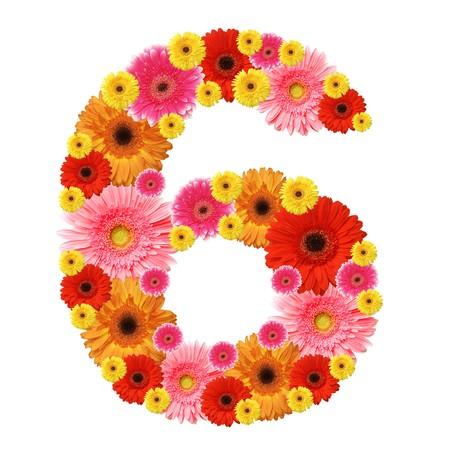 arabische letters: 6, arabic numeral