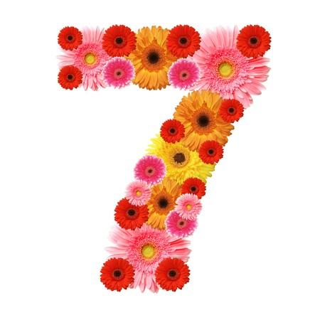 arabic numeral: 7, arabic numeral