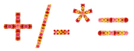 signos matematicos: signos matem�ticos  Foto de archivo