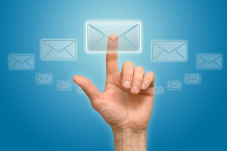 send mail: arm press the button (icon of letter)
