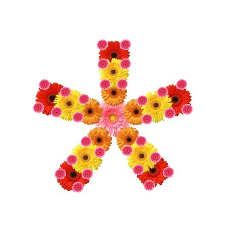 multiplicacion: ABC, flores, multiplicaci�n de signo matem�tico  Foto de archivo