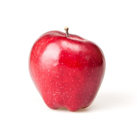 red apple isolated on white Stock Photo - 7496992