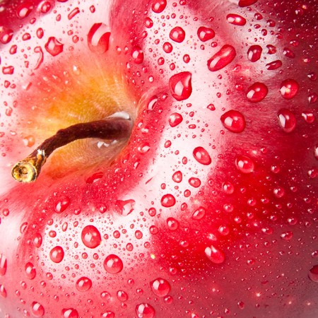 red apple, macro photo