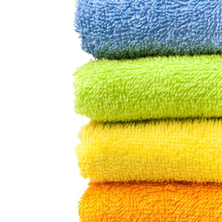 tela algodon: toallas  Foto de archivo