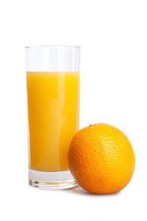 juice orange isolated on white Stok Fotoğraf