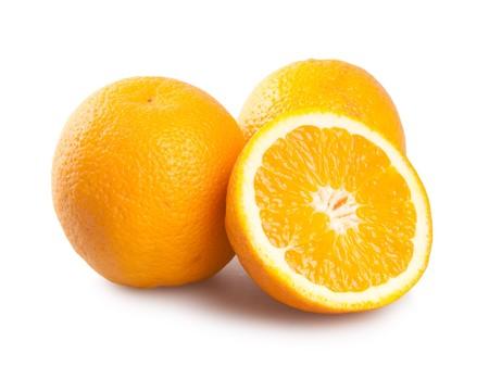 orange cut: fresh orange isolated on white
