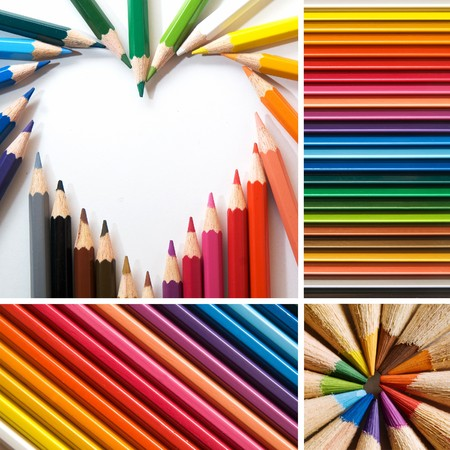color pencils, collage Stock Photo - 7572317