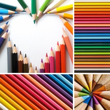 color pencils, collage Stock Photo - 7572317