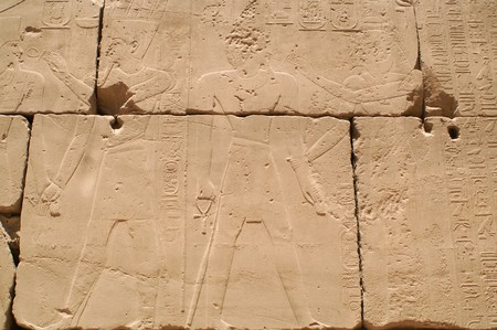 Egypt hieroglyphics in Luxor, signs photo