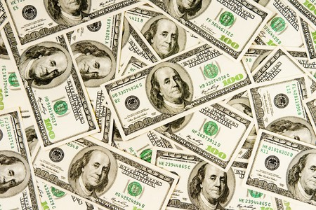 greenback: heap of dollars, money background