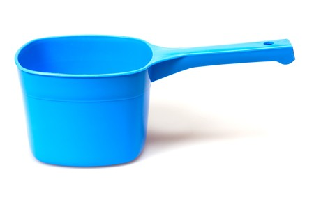 plastic scoop: plastic scoop