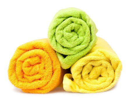 toalla: toallas  Foto de archivo