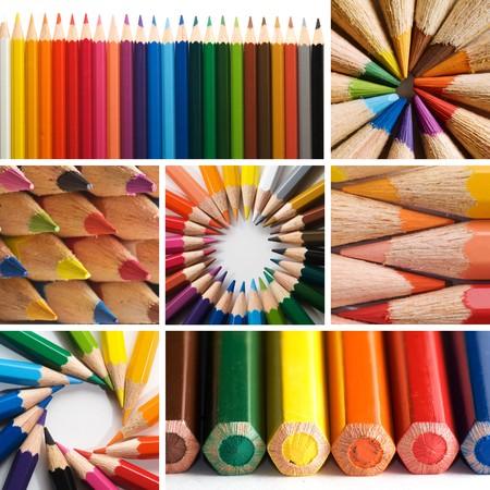 color pencils, collage Stock Photo - 7733029