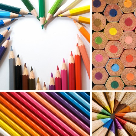color pencils, collage Stock Photo - 7829361