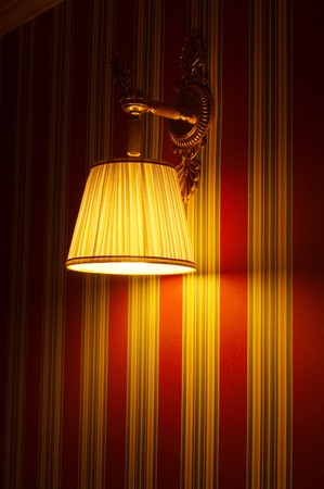 the lamp on the wall photo