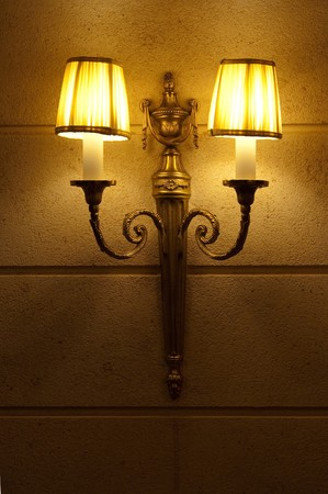 wall sconce: the lamp on the wall Stock Photo