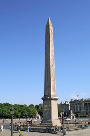 Place de la Concorde, Egyptian obelisk Stock Photo - 7829271