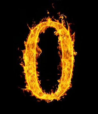 arabic number: 0 (zero), fire figure