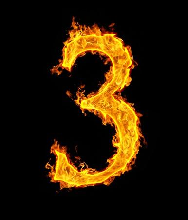 Ordinal: 3 (drei), Feuer Abbildung