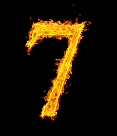 arabic number: 7 (seven), fire figure