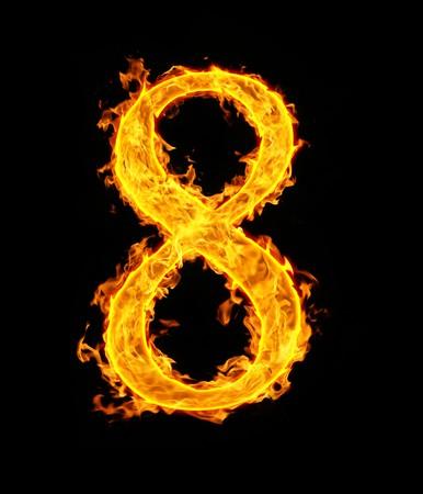 8 (eight), fire figure