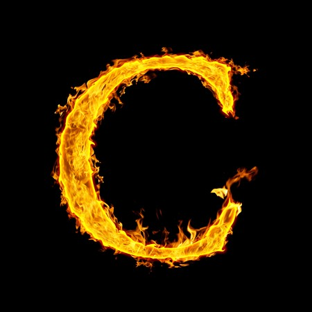 C, fire letter Stock Photo - 7952042