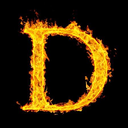 d ,fire letter Stock Photo - 7952079